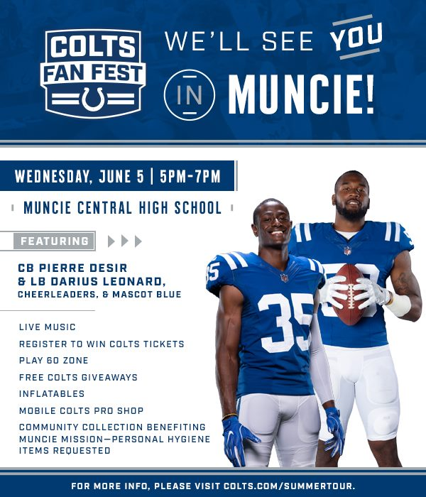 Indianapolis Colts Fan Fest coming to Muncie